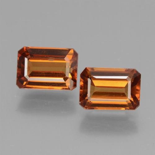 Orange Zircon Gem - 1.6ct Octagon Facet (ID: 429719)