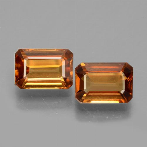 1.52 ct Octagon Facet Orange Zircon Gemstone 7.25 mm x 5 mm (Product ID: 429720)