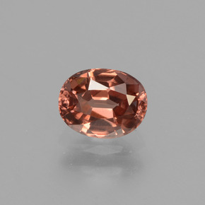 Rose Pink Zircon Gem - 0.8ct Oval Facet (ID: 429828)