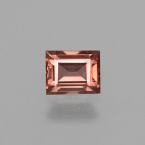 Rose Pink Zircon Gem - 0.7ct Baguette Facet (ID: 429835)