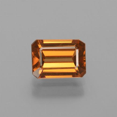 Orange Zircon Gem - 1.8ct Octagon Facet (ID: 429860)