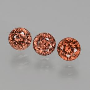 Orange Zircon Gem - 0.5ct Round Facet (ID: 429975)