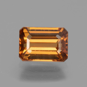 Medium Orange Circón Gema - 1.6ct Forma octagonal (ID: 429995)