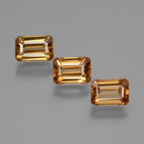 Golden Orange Zircon Gem - 1ct Octagon Facet (ID: 430047)