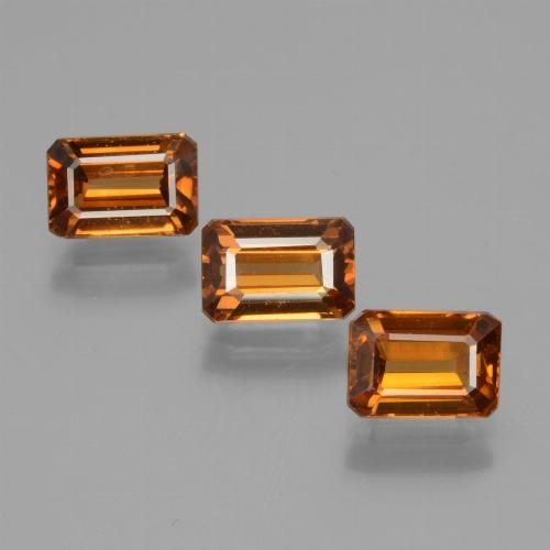 Orange Zircon Gem - 1.1ct Octagon Facet (ID: 430048)