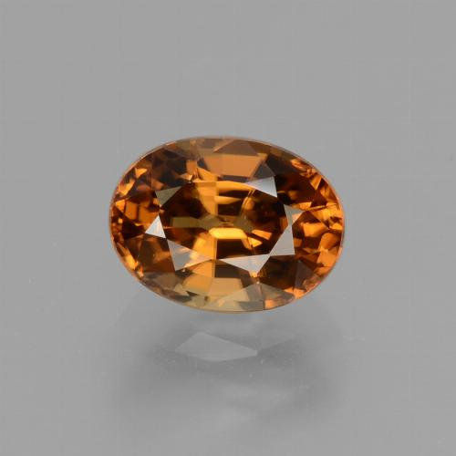 2.24 ct Oval Facet Gingerbread Brown Zircon Gemstone 8.23 mm x 6.1 mm (Product ID: 430099)