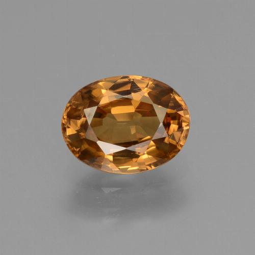 2.1ct Oval Facet Golden Orange Zircon Gem (ID: 430101)