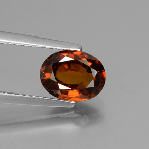 1.8ct Oval Facet Orange Zircon Gem (ID: 430204)