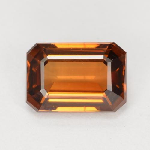 Medium Orange Zircone Gem - 1.5ct Sfaccettatura ottagonale (ID: 430494)
