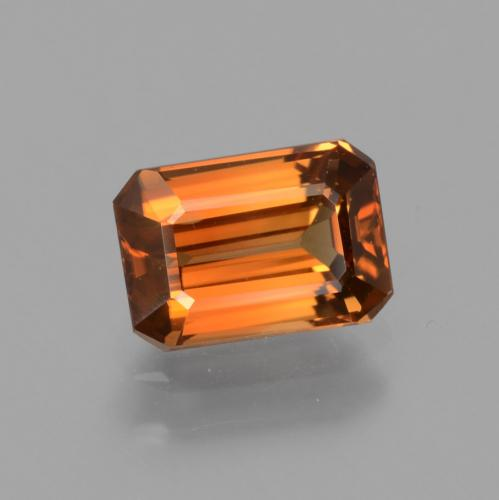 Orange Zircon Gem - 1.6ct Octagon Facet (ID: 430496)