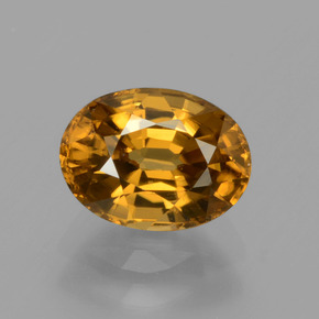 2.1ct Oval Facet Golden Zircon Gem (ID: 430721)