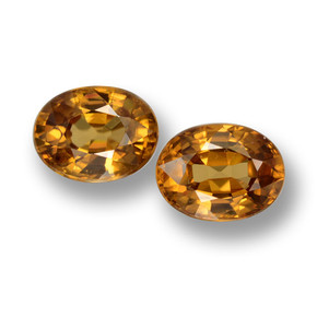 2.1ct Oval Facet Golden Zircon Gem (ID: 430723)