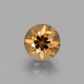 Golden-Orange Circón Gema - 2.5ct Corte Diamante (ID: 431890)