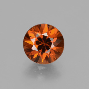 1.9ct Diamond-Cut Dark Orange Zircon Gem (ID: 431979)