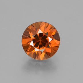 1.96 ct Diamond-Cut Orange Zircon Gemstone 7.13 mm  (Product ID: 431983)