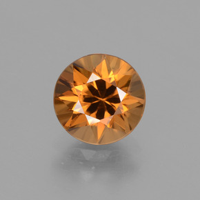 1.93 ct Diamond-Cut Golden Orange Zircon Gemstone 7.06 mm  (Product ID: 431985)