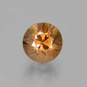 2ct Diamond-Cut Medium Orange Zircon Gem (ID: 431988)