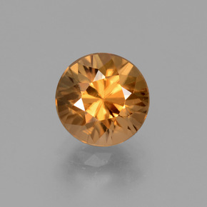 Rust Orange Zircone Gem - 2ct Taglio brillante (ID: 431989)