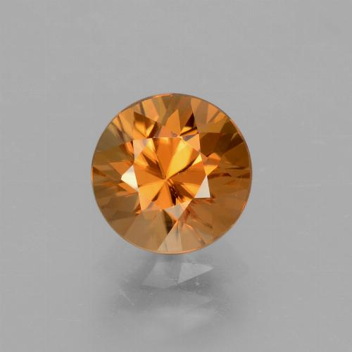 2.1ct Diamond-Cut Medium Orange Zircon Gem (ID: 432065)