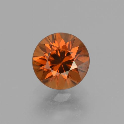 2.1ct Diamond-Cut Dark Orange Zircon Gem (ID: 432067)