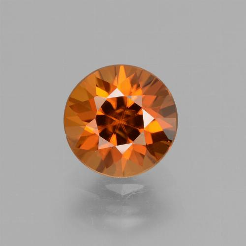 2.1ct Diamond-Cut Medium-Dark Orange Zircon Gem (ID: 432069)