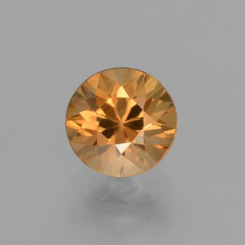 2.1ct Diamond-Cut Deep Orange Zircon Gem (ID: 432073)