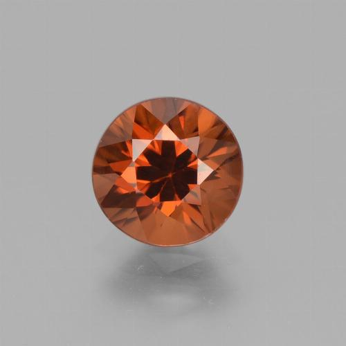 1.8ct Diamond-Cut Dark Orange Zircon Gem (ID: 432230)