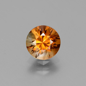 2ct Diamond-Cut Deep Brownish Orange Zircon Gem (ID: 432305)
