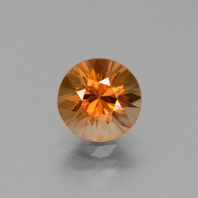 2.4ct Diamond-Cut Earthy Orange Zircon Gem (ID: 432308)