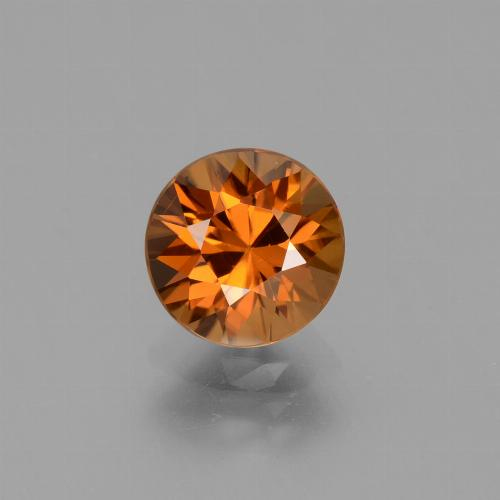 2.1ct Diamond-Cut Deep Orange Zircon Gem (ID: 432310)