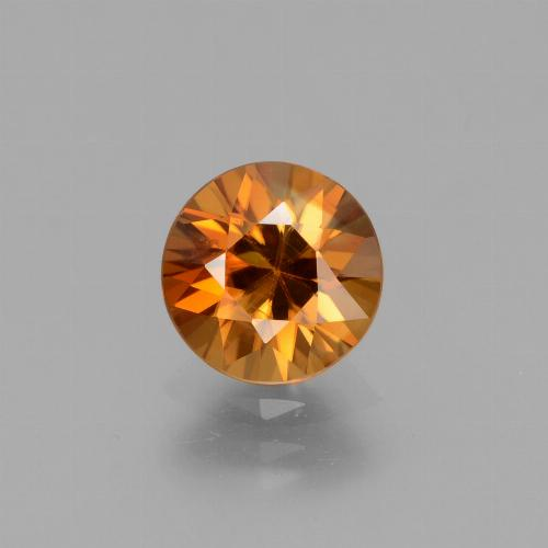 2.1ct Diamond-Cut Brownish Orange Zircon Gem (ID: 432311)