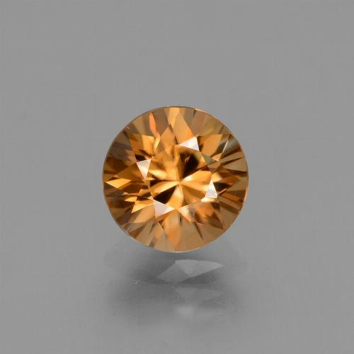 2.2ct Diamond-Cut Deep Orange Zircon Gem (ID: 432312)