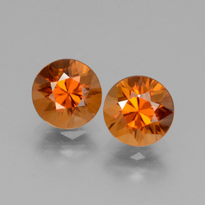 1.9ct Diamond-Cut Medium Orange Zircon Gem (ID: 432375)