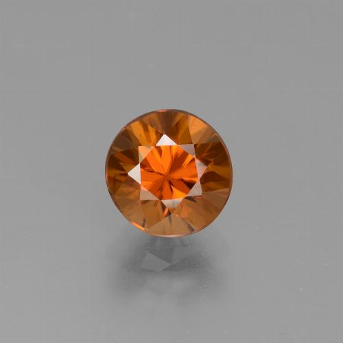 1.9ct Diamond-Cut Medium-Dark Orange Zircon Gem (ID: 432379)