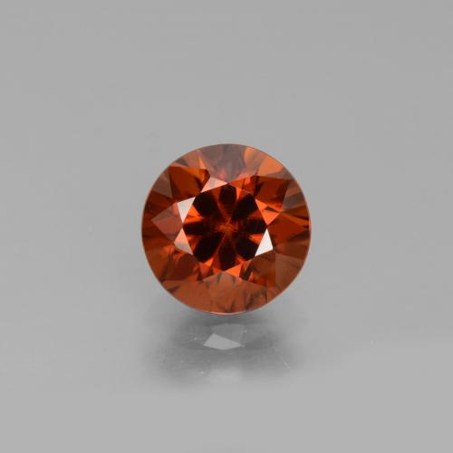1.8ct Diamond-Cut Reddish Orange Zircon Gem (ID: 432381)