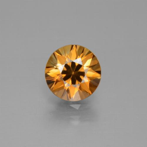 Medium Orange Zircone Gem - 1.8ct Taglio brillante (ID: 432382)