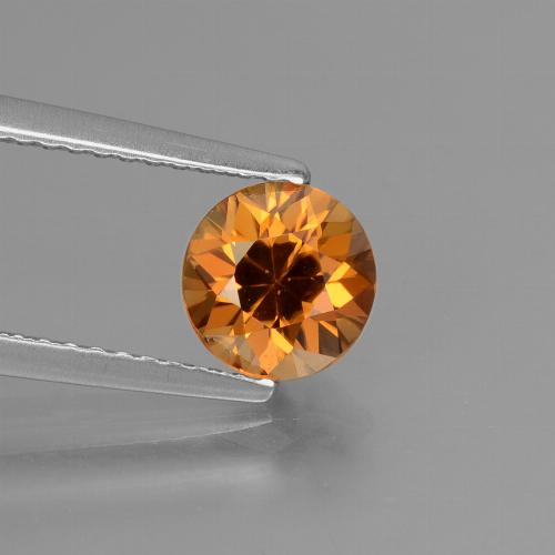 1.6ct Diamond-Cut Orange Brown Zircon Gem (ID: 432385)