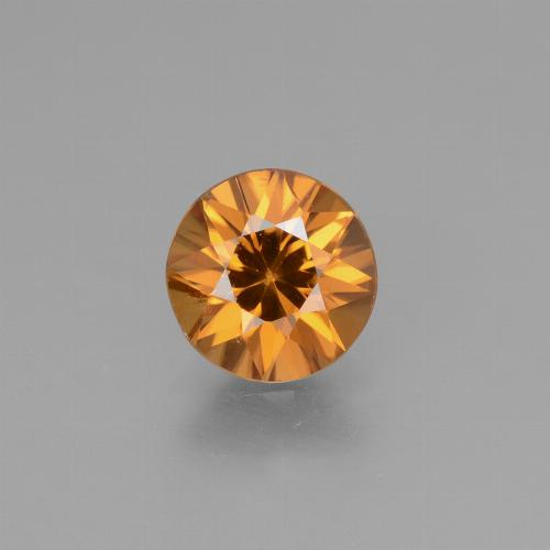 1.7ct Diamond-Cut Medium Orange Zircon Gem (ID: 432386)