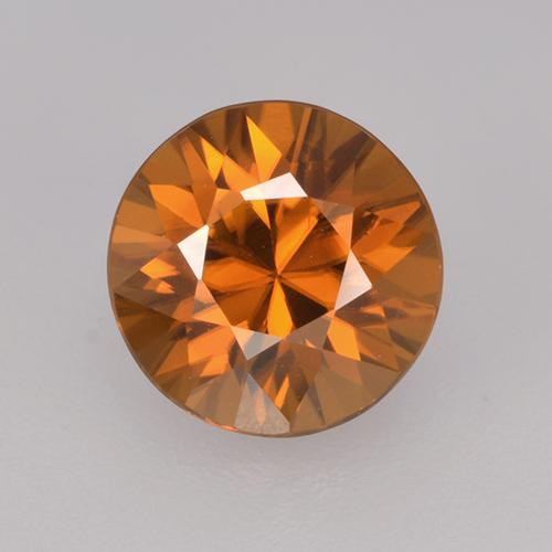 1.9ct Diamond-Cut Medium Orange Zircon Gem (ID: 434251)