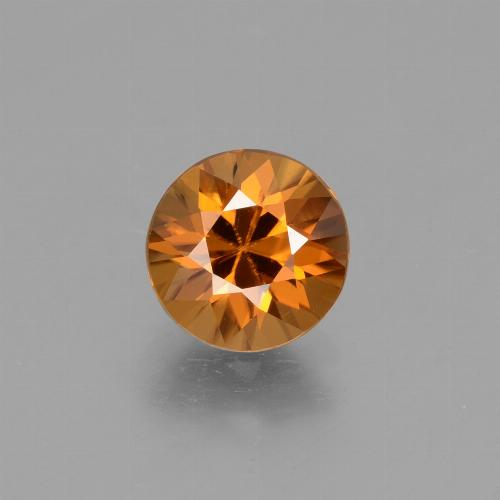 1.9ct Diamond-Cut Deep Orange Zircon Gem (ID: 434254)