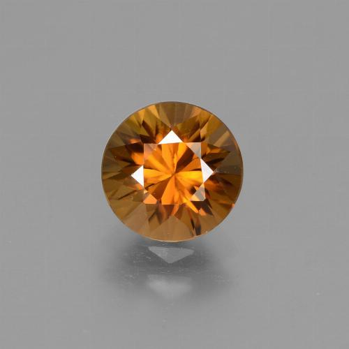 1.9ct Diamond-Cut Earthy Orange Zircon Gem (ID: 434260)