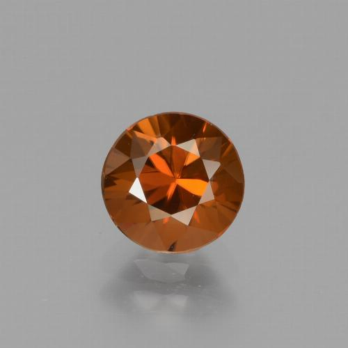 1.5ct Diamond-Cut Deep Orange Zircon Gem (ID: 434339)