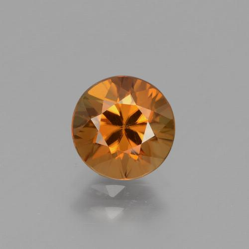 1.6ct Diamond-Cut Orange Brown Zircon Gem (ID: 434340)