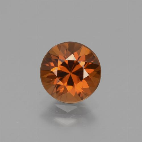 1.7ct Diamond-Cut Amber Orange Zircon Gem (ID: 434341)