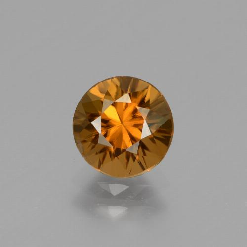 1.6ct Diamond-Cut Medium Orange Zircon Gem (ID: 434342)