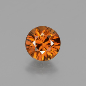 1.6ct Diamond-Cut Reddish Orange Zircon Gem (ID: 434344)