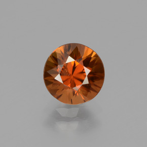 1.5ct Diamond-Cut Reddish Orange Zircon Gem (ID: 434345)