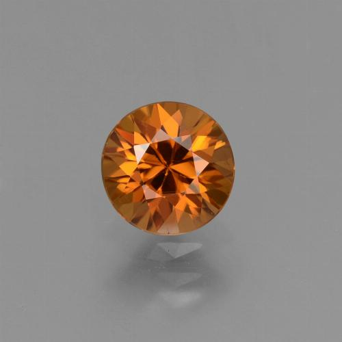 1.4ct Diamond-Cut Medium Orange Zircon Gem (ID: 434394)