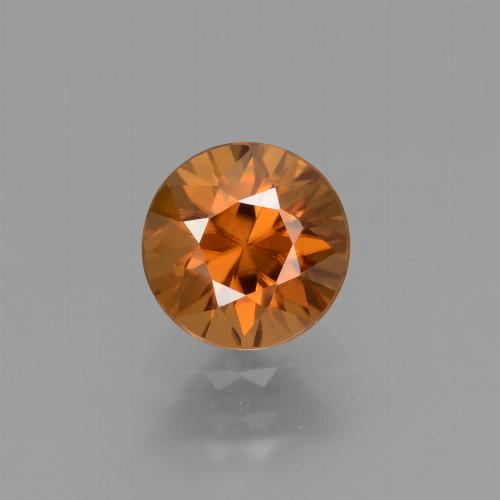 1.7ct Diamond-Cut Earth Orange Zircon Gem (ID: 434396)