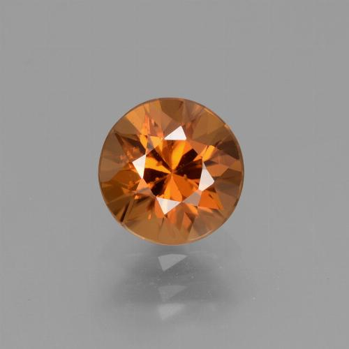 1.6ct Diamond-Cut Medium Orange Zircon Gem (ID: 434397)